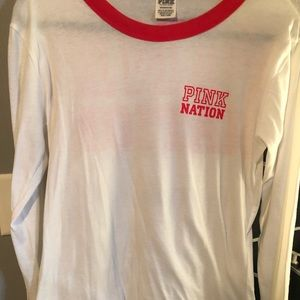 Pink nation long sleeve tshirt